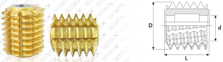 Azdırma DP Serisi – 20° Taş Paylı Titan Kaplamalı
