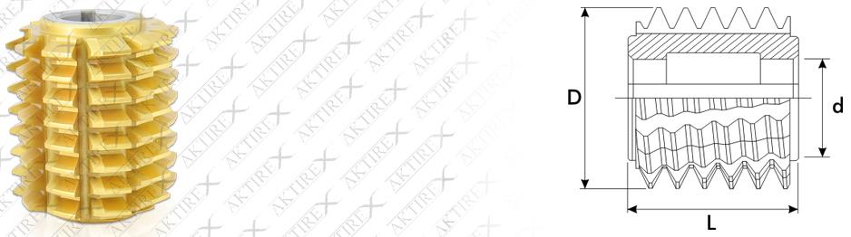 Azdırma Modül Serisi – 20° Taş Paylı Titan Kaplamalı