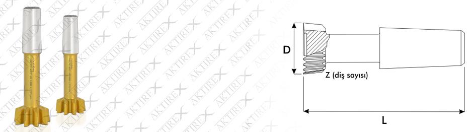 Saplı Fellow DP Serisi – 20° Titan Kaplamalı